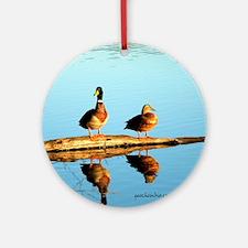 Ducks at sunset Round Ornament