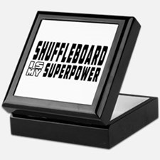 Shuffleboard Is My Superpower Keepsake Box