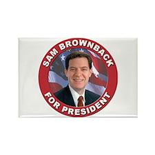 Sam Brownback for President Rectangle Magnet