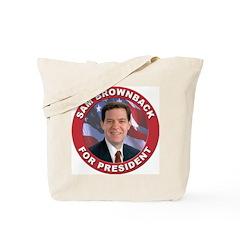 Sam Brownback for President Tote Bag