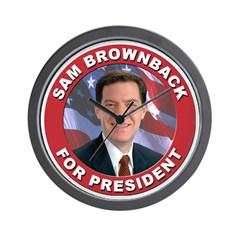 Sam Brownback for President Wall Clock