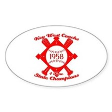 1958 Key West Conchs State Champions Decal