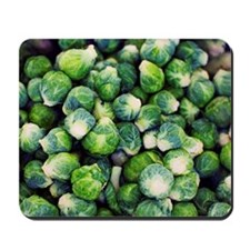 Bright Green Fresh Brussels Sprouts Mousepad