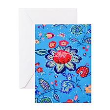 Blue Jacobian Pattern Greeting Card