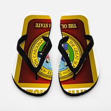 North Carolina Seal (B) Flip Flops