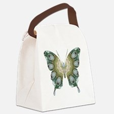 Ascension Green Butterfly Canvas Lunch Bag