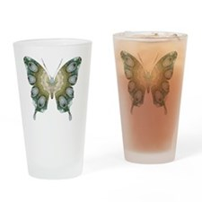Ascension Green Butterfly Drinking Glass