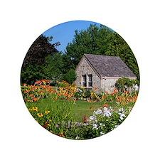 "Country Garden Cottage 3.5"" Button"
