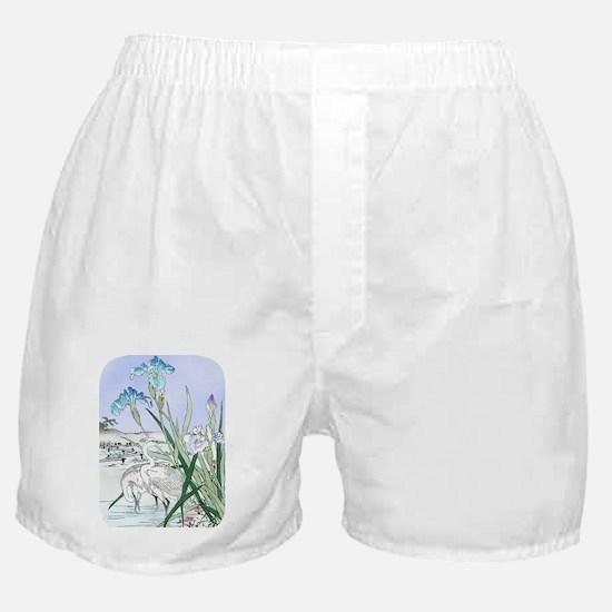 PwrBnk Herons Blue Irises Boxer Shorts