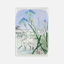 PwrBnk Herons Blue Irises Rectangle Magnet
