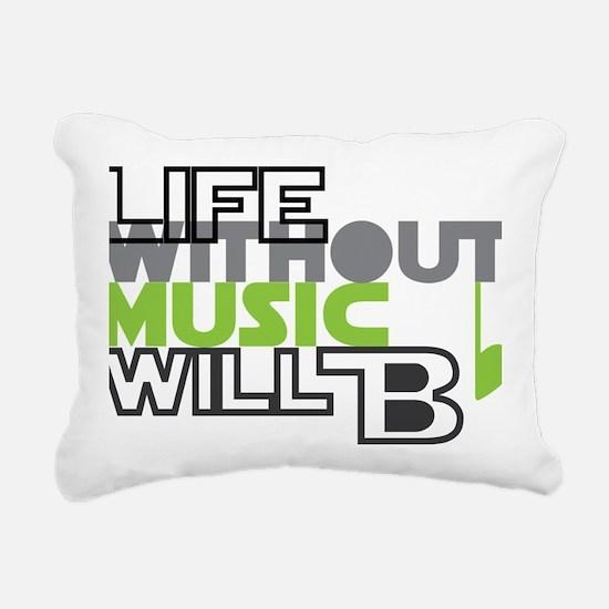 B flat Rectangular Canvas Pillow