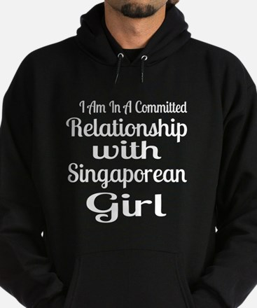 I Am In Relationship With Singaporea Hoodie (dark)