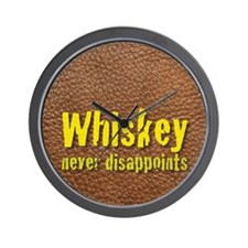 Whiskey never disappoints flask Wall Clock