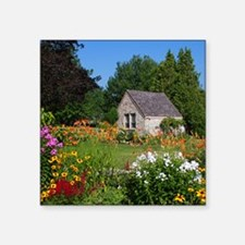 "Country Garden Cottage Square Sticker 3"" x 3"""