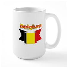 Belgian flag ribbon Mug