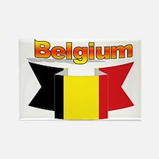Belgian flag ribbon Rectangle Magnet