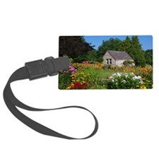 Country Garden Cottage Luggage Tag