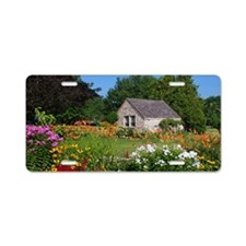 Country Garden Cottage Aluminum License Plate