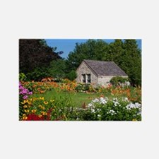 Country Garden Cottage Rectangle Magnet