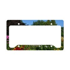Country Garden Cottage License Plate Holder