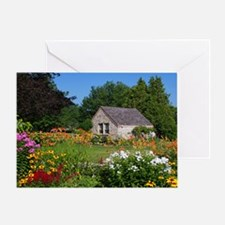 Country Garden Cottage Greeting Card
