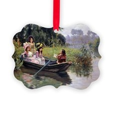 PwrBnk Victorian Boating Scene  P Ornament