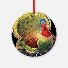 Thanksgiving  wild  turkeyd Round Ornament