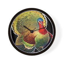 Thanksgiving  wild  turkeyd Wall Clock