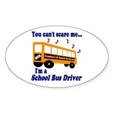 Can't Scare Me Oval Decal