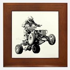ATV Racing Framed Tile