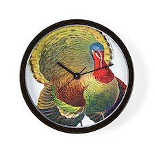 Thanksgiving  wild  turkey Wall Clock