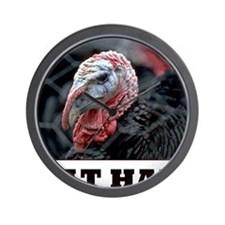 Thanksgiving Eat Ham Wall Clock