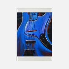 Electric Blue Bass Art Rectangle Magnet (10 pack)