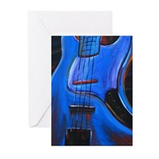 Electric Blue Bass Art Greeting Cards (Package of
