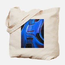 Electric Blue Bass Art Tote Bag