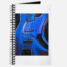 Electric Blue Bass Art Journal