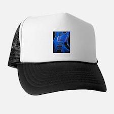 Electric Blue Bass Art Trucker Hat