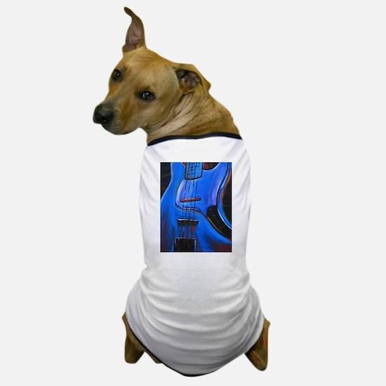 Electric Blue Bass Art Dog T-Shirt