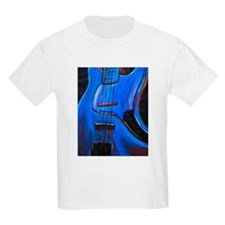 Electric Blue Bass Art Kids T-Shirt