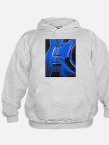 Electric Blue Bass Art Hoodie