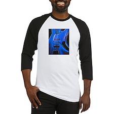 Electric Blue Bass Art Baseball Jersey