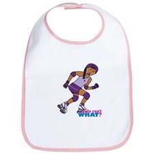 Roller Derby Girl Purple Bib