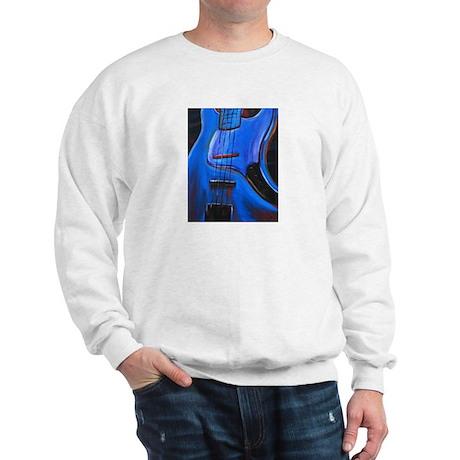 Electric Blue Bass Art Sweatshirt