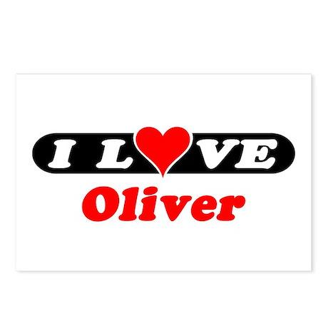 I Love Oliver Postcards (Package of 8)