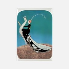 PwrBnk-Art Deco Plank Lady Astrid Rectangle Magnet