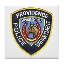 Providence Mounted Police Tile Coaster