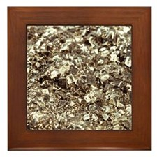 Photography of iron pyrite, Stone mate Framed Tile