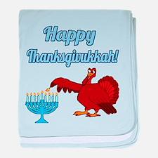 Happy Thanksgivukkah 4 baby blanket