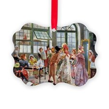 PwrBnk Victorian Shopping Scene Ornament
