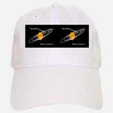 You are Here stick figure solar system Baseball Baseball Cap